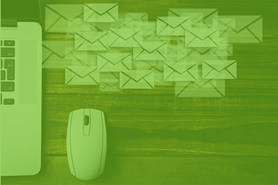 Screen capture of email being setup