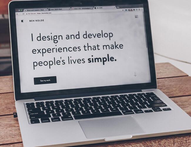 Designer working on a website