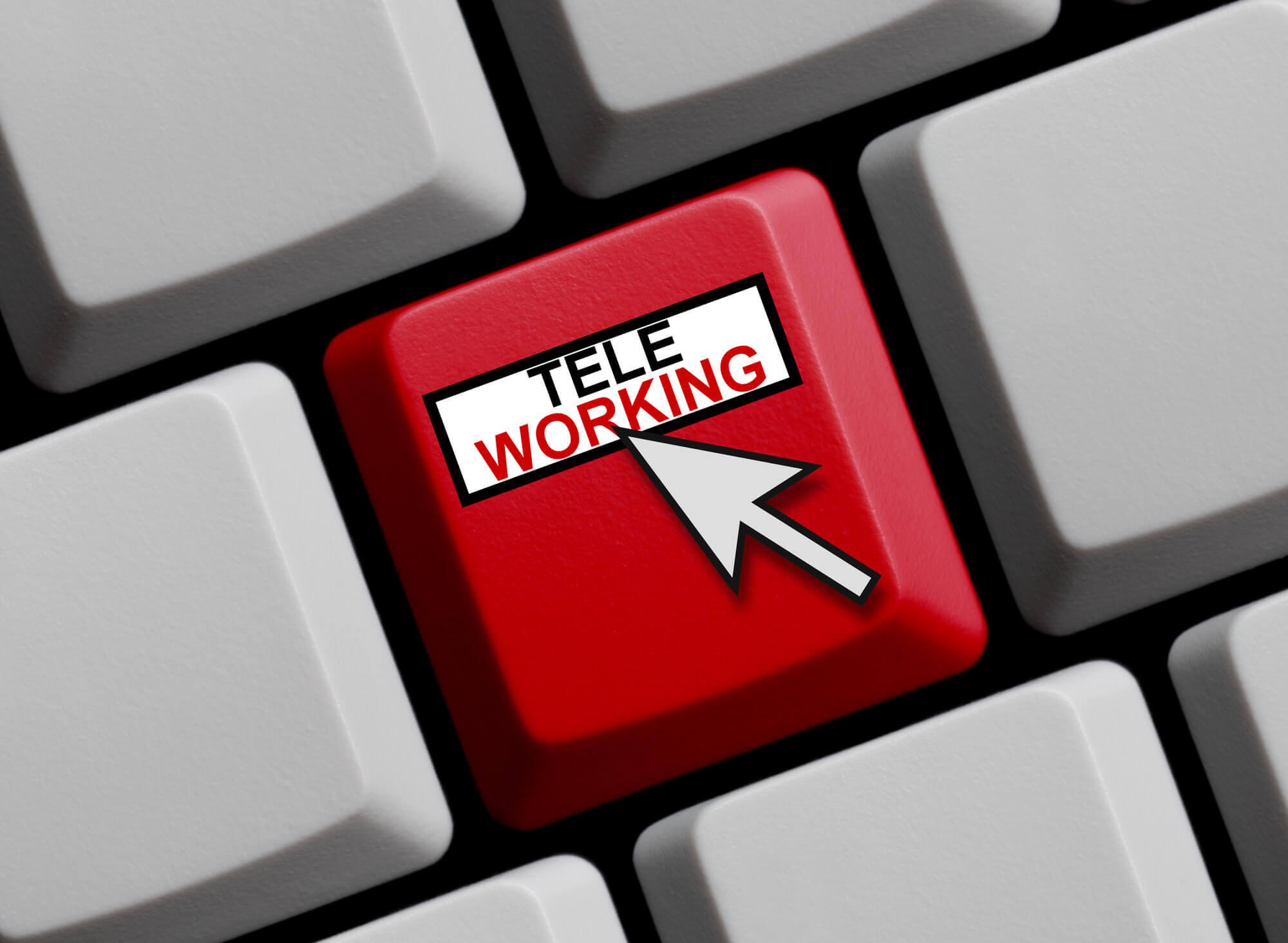 remote working button